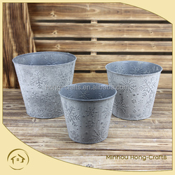 gray metal containers garden