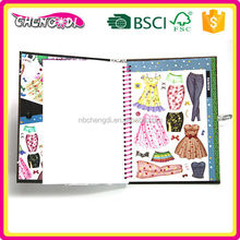 Convenient scrapbook decoration stickers book, safety stickers for kids, ring book printing