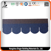 Gray/ Red/ Green/ Brown/ Black/ asphalt shingle roof for villa/townhouse/garden house