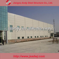wide span space frame light steel structure for warehouse workshop building