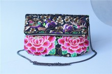 Floral full embroidery women bag China supplier OEM/ODM sling bag