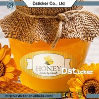 2015 China factory directly honey bottle label with custom printing