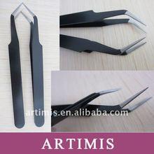Steel curved tweezers