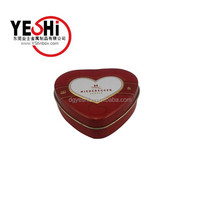 Valentine Heart Shaped Metal Tin Box For Gift