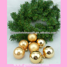 Hot Products Ligtness Wholesales Christmas Glass Ball Decoration with aluminum cap