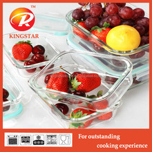 OEM high borosilicate transparence lunch box/storage box