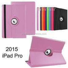 High Quality 360 Degree Rotation Standing PU Leather Case For iPad Pro