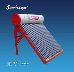 compact color plate 110L unpressuriezed solar water heater with heat pipe