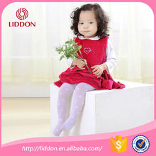 Hot sale white baby girls nylon tights with jacquard China factory