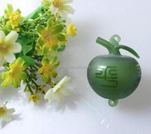 China manufacturer factory price wholesale high quality apple shape decoarative car glass perfume bottle