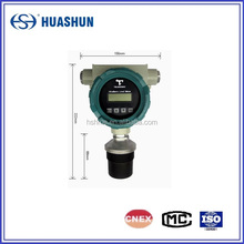 Explosion-proof ultrasonic liquid level gauge monted on the tank top