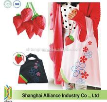 Wholesale Portable Reusable Shopping Tote Bag,Cute Strawberry Foldable Shopping Bag
