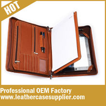 Zippered Padfolio Pu Leather Material With Multi Pocket From China Direct Factory
