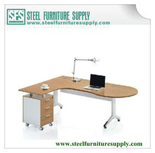 office table/steel office desk with pedestal