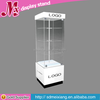 MX-NW026 Simple free standing glass display cabinet / glass display cabinet for sale