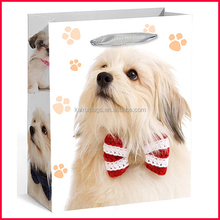 2015 new design printed dog butique shopping paper bag