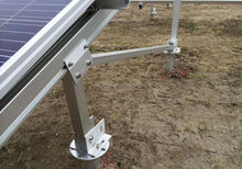 high quality solar energy system pv mounting bracket with ground screw