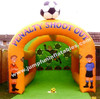 Inflatable Soccer Shooting/PVC Football Goal for commercial rental