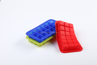 hot sale promotion gift 18 holes ice cube tray , silicone ice mold