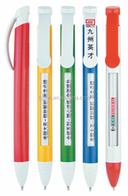 Promotional pens with advertisment window ballpoint pen printer