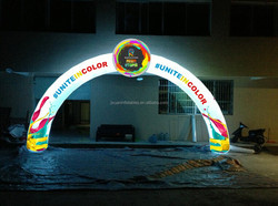 light LED inflatable arch,inflatable rainbow arch