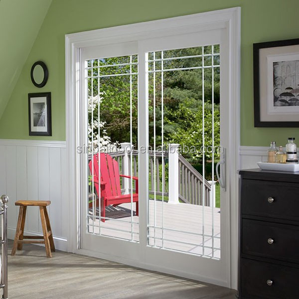 White Exterior Sliding Glass French Patio Doors Prices