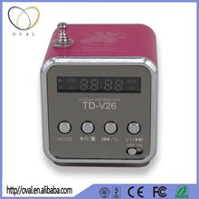 Portable Mini Digital MP3 Player Speaker with MicroSD / TF / USB / FM