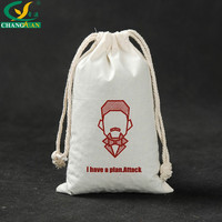 Customized Cotton Promotional Drawstring Tote Bag Rice Packing Bag