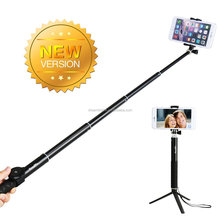 2015 new Aluminum, extendable wholesale wireless selfie stick for mobile phone camera