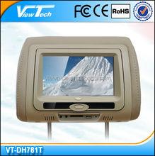 7 inch touch screen headrest car dvd player built in USB SD
