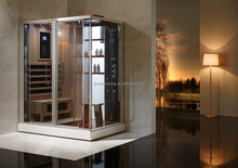 combination of digital thermostatic steam shower and infrared steam sauna