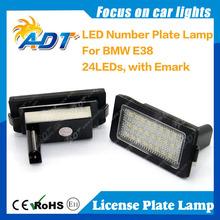 Error free white super bright LED Number License Plate E38