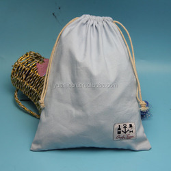 wholesale cheap price large drawstring unbleached canvas cotton cloth bag for clothing packing