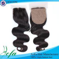 Lace closure for head back, brazilian hair natural wavy silk top lace closure, 3 bundles silk base frontal