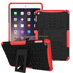 chinese manufacturer dual layers pc+tpu armor case for apple ipad mini 4