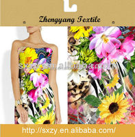 Hot sale lovely pictures flower printing english cotton printed fabric