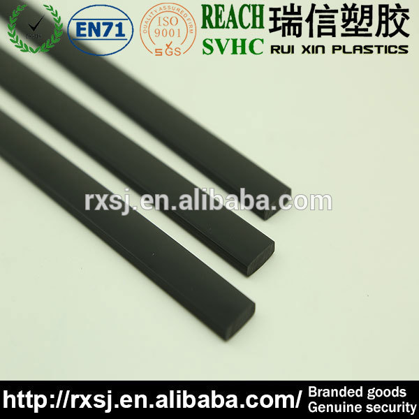 Black flexible label strip something