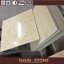 Popular Sunny Cream composite marble floor| Marble Laminated with Ceramic