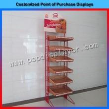 Modern design retai store metal wire cupcake stand made in china