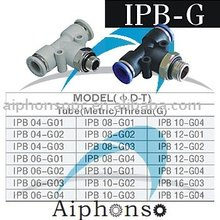 IPB-G pneumatic connect fitting/plastic quick connect fittings
