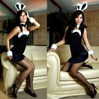 New Sexy Black PlayBoy Bunny Adult Costume for party Fancy Dress QAWC-2539