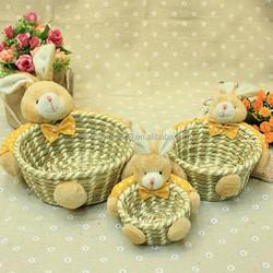 Wholesale custom handmade grafts for easter storage handmade basket