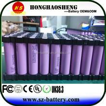 Customize 10s8p 18650 battery pack 36v 16ah brand battery cells make battery pack