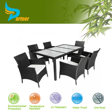 PE Wicker Garden Dinning Sets Tables and Chairs Rattan Outdoor Furniture Round