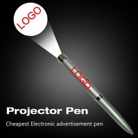 Cheap LED projector ballpoint pen with LOGO project,novelty led logo pen for promotion advertising items