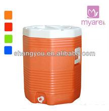 10 gallon orange portable cool water drink jug