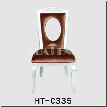 high quality silver leaf solid chairs hotel restaurants HT-C335