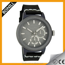 Hole sale leather band vintage wrist watch for men