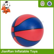 Inflatable dual color basketball, small PVC anti stress Basketball