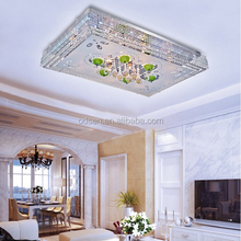 Large hotel lobby hanging modern family crystal led glass ceiling lamps